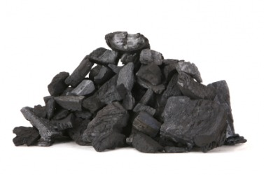 A small pile of coal.