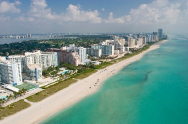 The coastal city of Bal Harbour.