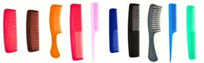 A set of different types of combs.