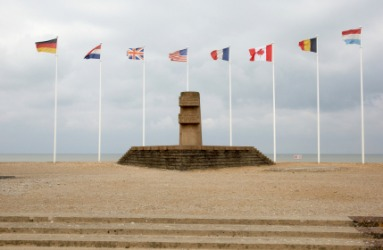 Memorial to the soldiers who landed in Normandy on D-day, June 6th, 1944.