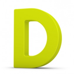 Charmant An Uppercase Letter D.