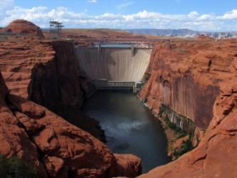 The Glen Canyon dam in Arizona.