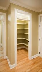 An empty closet.