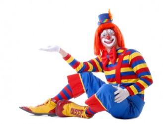 A circus clown.