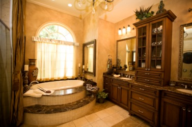 A deluxe bathroom.