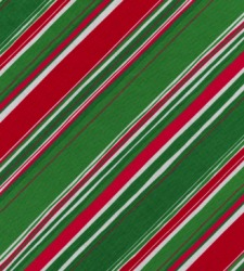 A piece of fabric with diagonal stripes.