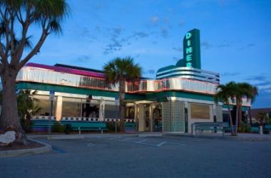 A roadside diner.