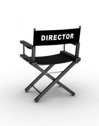 A director's chair.