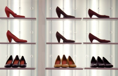 Shoes on display.