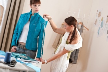 A dressmaker at work.