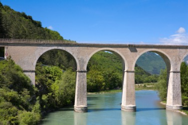 An aqueduct in France.