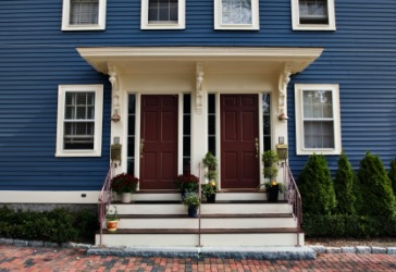 A duplex house in New England.
