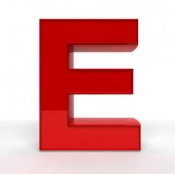 The letter E.
