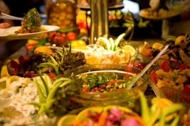 Awesome A Table Covered With Very Edible Foods.