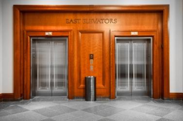 Elevators in an office building.