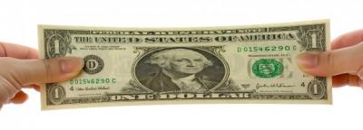 An elongated dollar bill.