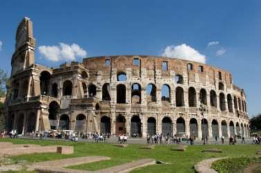 The Colosseum is an ancient arena.