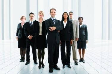 A group of modern entrepreneurs.