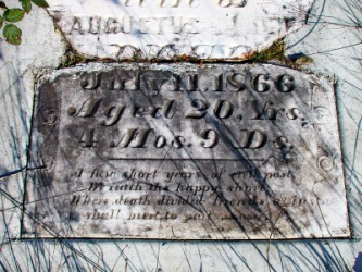 An epitaph on an old gravestone.