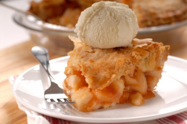 Pie served with ice cream is called pie a la mode.