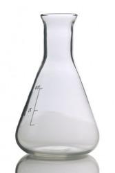 An Erlenmeyer flask.