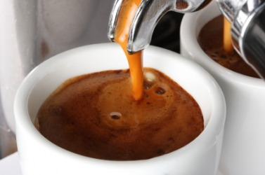 A fresh cup of espresso.