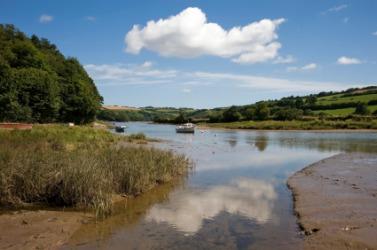 An estuary of the River Devon.