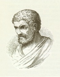 The Greek mathematician Euclid.