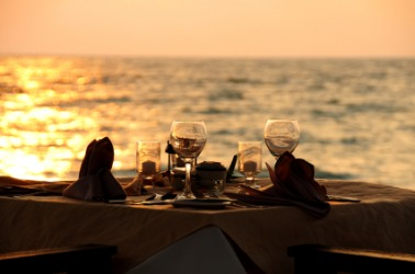 A perfect evening for a romantic meal.