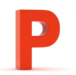 The letter P.