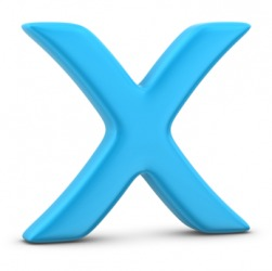 The letter X.