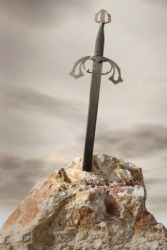 Excalibur, the sword of King Arthur.