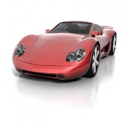 An expensive car.
