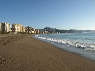 An extensive beach.