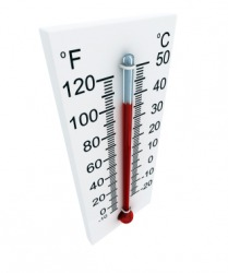 A Fahrenheit thermometer.
