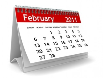 The month of February.