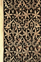 Filigree wall decoration.