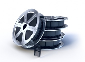 Reels of movie film.