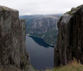 A fiord in Norway.
