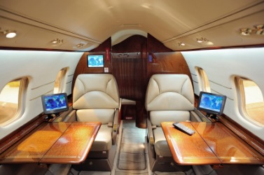 First-class air travel.