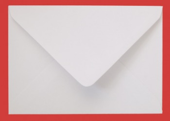The flap of an envelope.