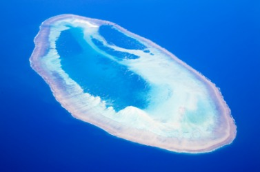 A coral atoll.
