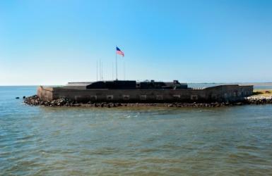 Fort Sumter in Charleston Harbor.