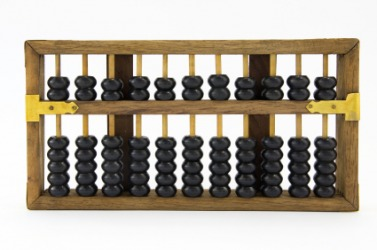 An example of an abacus used for arithmatic.