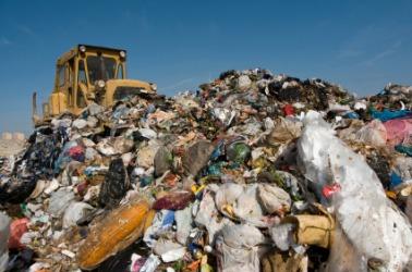Piles of garbage.