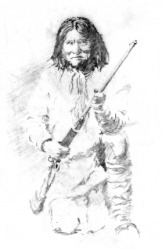 A portrait of Geronimo.