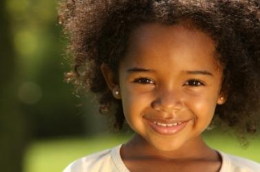 A cute little girl.