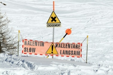 Avalanche warning signs.