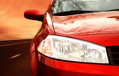 A car with a high gloss finish.