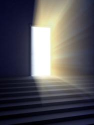 A glowing doorway.